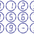 Royalty-Free Stock Vector Image: Liquid crystal digits icons set.