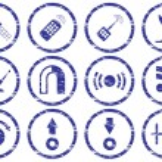 Gadget icons set. — Stock Vector
