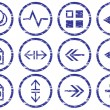 Gadget icons set. - Stockvektor