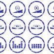 Royalty-Free Stock Vector Image: Gadget icons set. White - dark blue pale