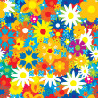 Royalty-Free Stock Vector Image: Seamless abstract flowers background.