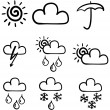 Royalty-Free Stock Vectorielle: Set of symbols for the indication of wea