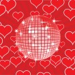 Royalty-Free Stock Vector Image: Disco ball on a red background.