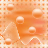 Abstract elegance background with balls. — Stock Vector