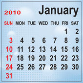 Calendar of January 2010 on abstract bac — Vetorial Stock