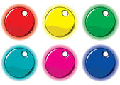 Set of colored circle labels for your de — Stock Vector