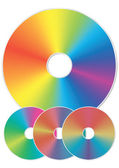 Compact disk with rainbow reflections. — Stock Vector