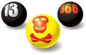 Paranormal set of balls. — Stock Vector