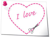 Valentinstag-grußkarte. — Stockvektor