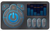 Muzyka urządzenia. — Wektor stockowy