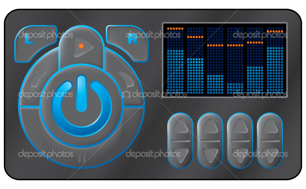 Music device. Vector illustration. — Stock Vector #1010299