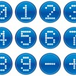Royalty-Free Stock Vector Image: Matrix digits icons set.