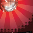 Royalty-Free Stock Vector Image: Disco ball on red.