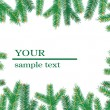Royalty-Free Stock Vectorielle: Christmas tree branchs frame.