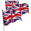 Stock Vector: United Kingdom 3d flag.