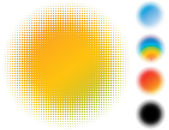 Spotted gradient flash. — Stock Vector