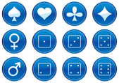 Games icons set. — Stock Vector