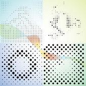 Conjunto de backgr gradiente abstracta elegancia — Vector de stock