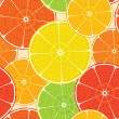 Stock Vector: Abstract citrus high-detailed background