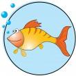 Golden fish. - Stock Vector