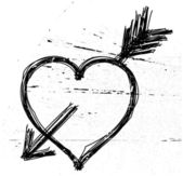 Heart symbol on grunge background. — Stock Vector