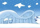 Zima. padající sníh — Stock fotografie