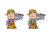 Kameramani — Stock fotografie