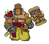 Troll warrior - Conqueror — Stock Photo