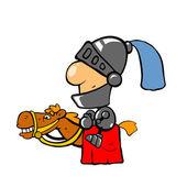 Knight on horse — Stock Photo