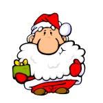 Постер, плакат: Santa Claus with gift