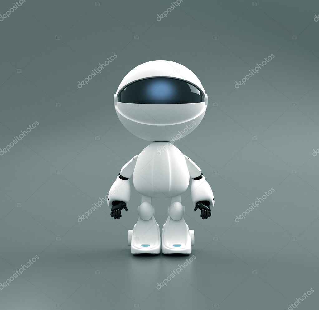 Cute robot toy in spacesuite — Stock Photo #1111779