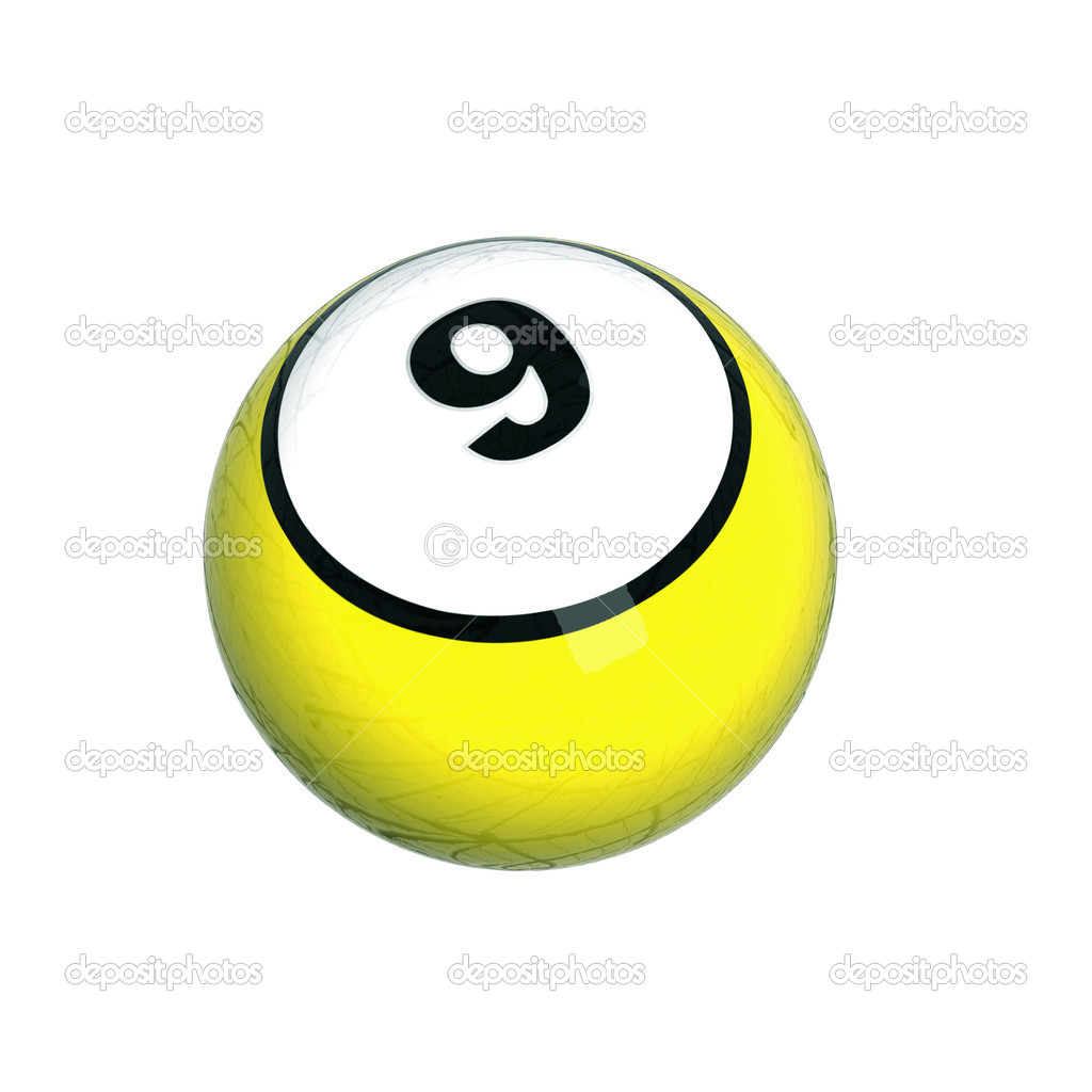 Bright new billiard ball — Stock Photo #1111835