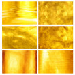 Royalty-Free Stock Photo: Collection fine brushed golden texture