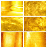 Collection fine brushed golden texture — Stock Photo