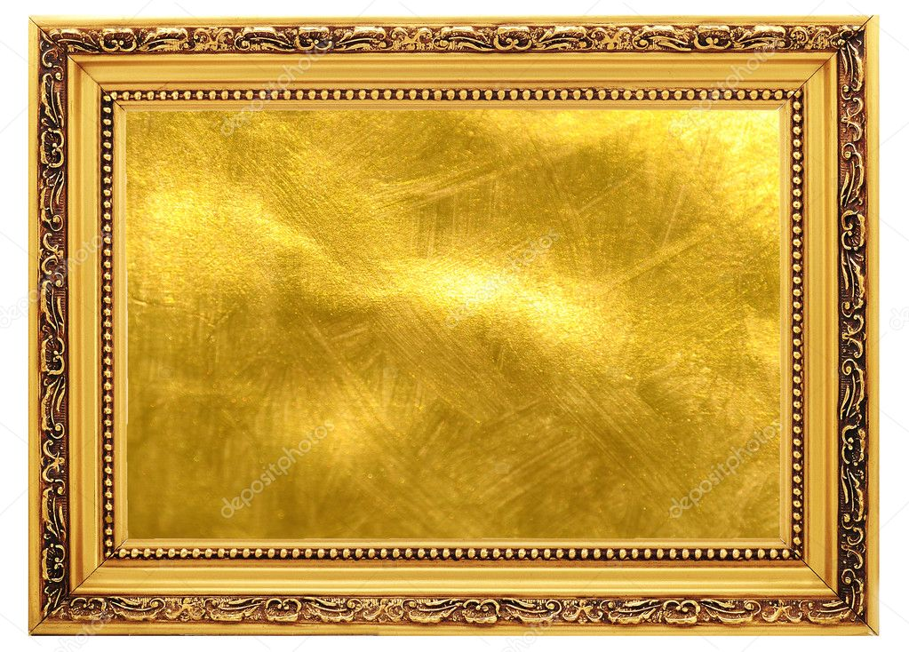 Gold old frame with a gold background — Stock Photo #1010305