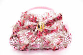 Pink bag isolated on white. — Stock Photo