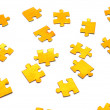 Gold puzzle - Stock Photo