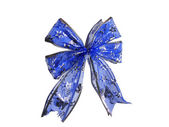 Dark blue bow on a white background — Photo