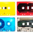 Collection of audio cassettes - Stock Photo