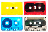 Collection of audio cassettes — Stock Photo