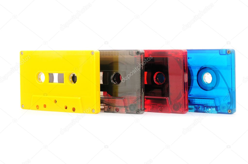 Collection of audio cassettes — Stock Photo #1755558