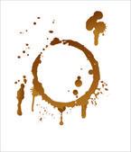 Macchie di caffè vettoriale — Vettoriale Stock