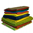 Royalty-Free Stock Photo: Colourful clothes stacked