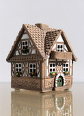 Malá chata s balkonem — Stock fotografie