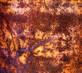 Teplé rezavé povrchu kovu — Stock fotografie