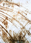 Rusty scratched metal sheet — Stock Photo