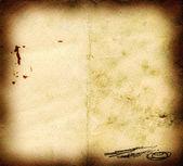 Yanmış çizilmiş eski kağıt — Stok fotoğraf