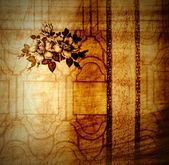 复古花卉壁纸 — 图库照片