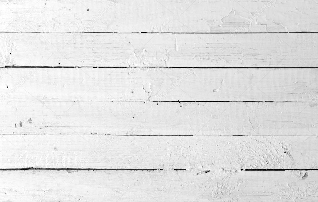 Weathered painted white wooden plank  Stock Photo #1008814
