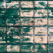 Painted green tiled wall — Stock Photo #1014925